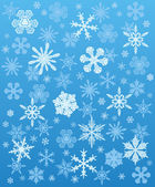 Snowflakes background winter — Stock Vector