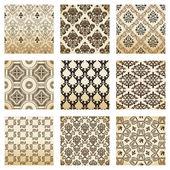 La valeur de vieux vintage décoratif fleur de seamless wallpaper — Vecteur