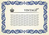 Vintage frame ornament — Stock Vector