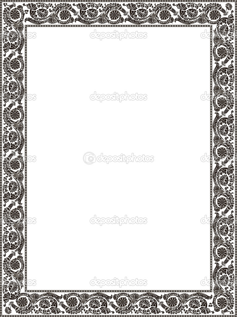imperial ornament colour framework flower decorative vintage a stock vector extezy 3978475. Black Bedroom Furniture Sets. Home Design Ideas