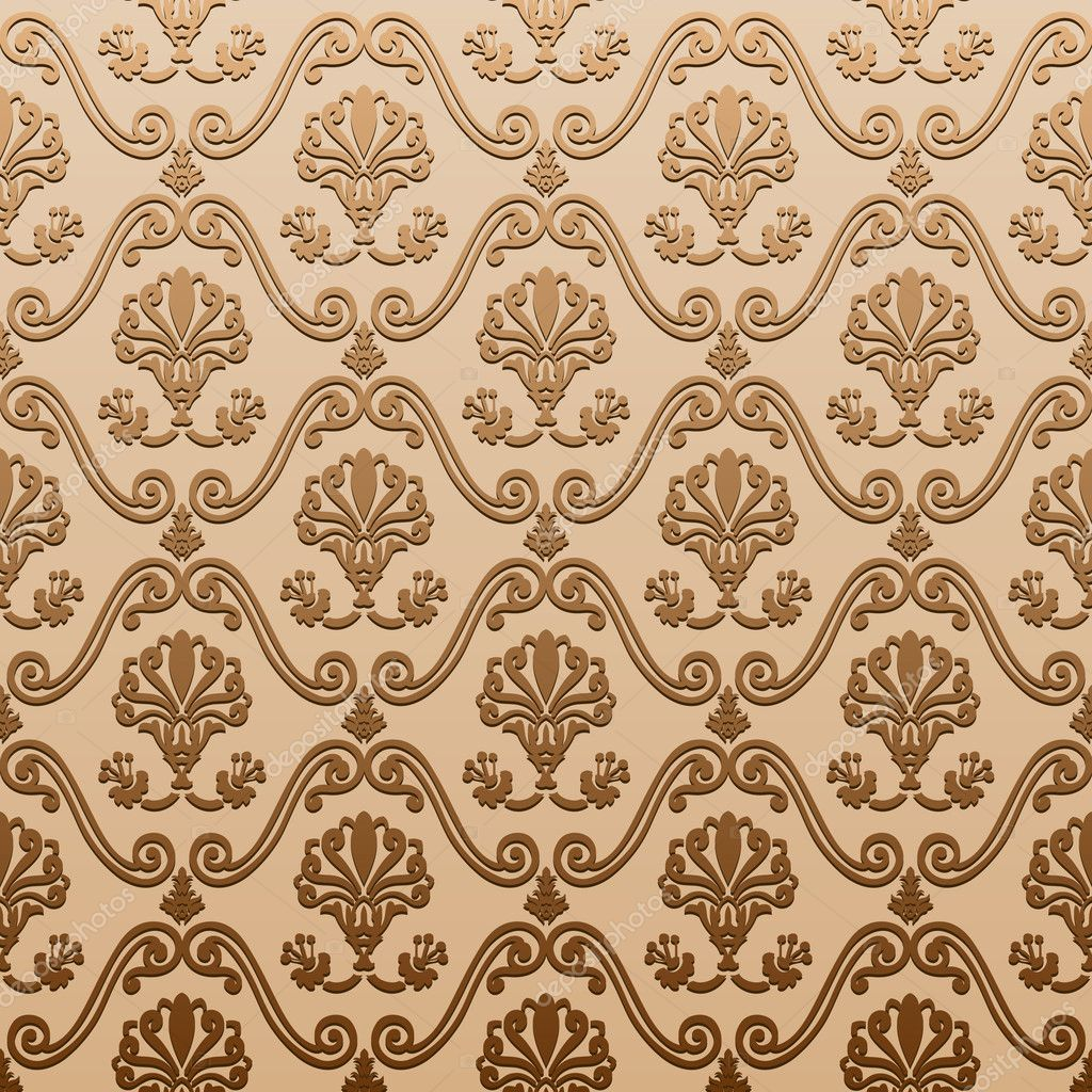 Seamless wallpaper old decorative vintage abstract - Papel paredes vintage ...