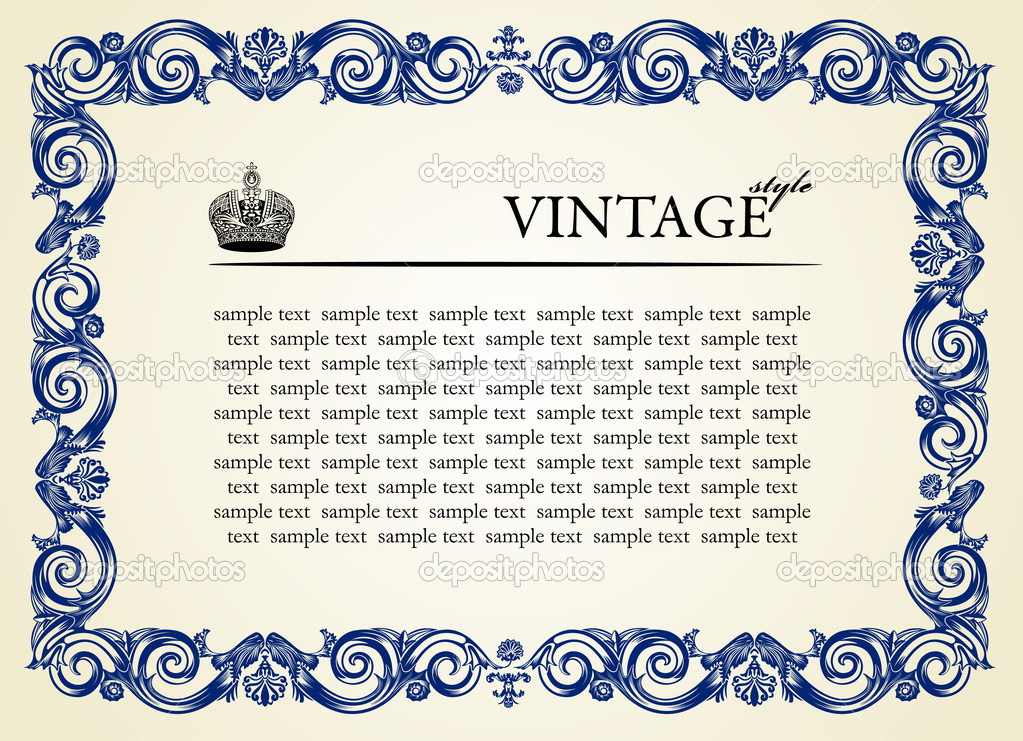 Vintage frame ornament. Vector illustration — Stock Vector #3978596