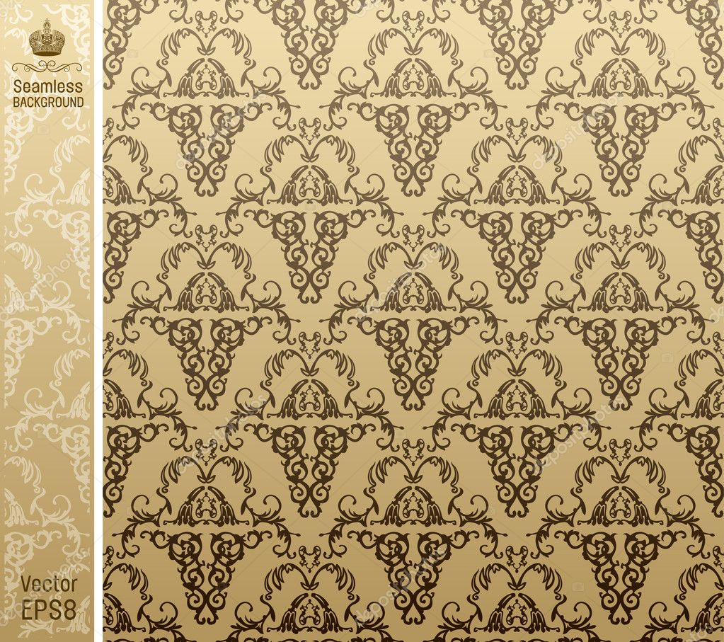 Seamless royal background floral Pattern. Vector illustration  Vettoriali Stock  #3988317