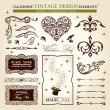 Calligraphic elements vintage vector set. Happy valentine day — Stock Vector