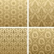 Vintage seamless background brown ornament — Stock Vector #4911419