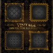 Vector vintage Gold frames ornament label — Stok Vektör #4911422
