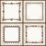 Vector vintage retro frames ornament label — Stock Vector #4911424