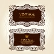 Vintage frames labels. vector decor - Stok Vektör