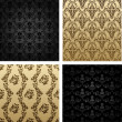 Vintage seamless background brown black baroque — 图库矢量图片
