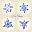 Christmas snowflakes vector vintage decor — Stock Vector