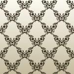 papel de parede branco sem costura vintage fundo preto vector — Vetorial Stock