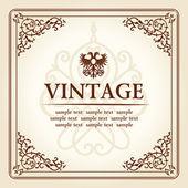 Vintage curves floral frame ornament — Stock Vector