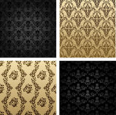 Vintage seamless background brown black baroque — Stock Vector