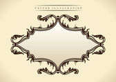 Pattern in Baroque style. Vintage frame — Stock Vector
