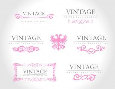 Baroque vintage royal design elements