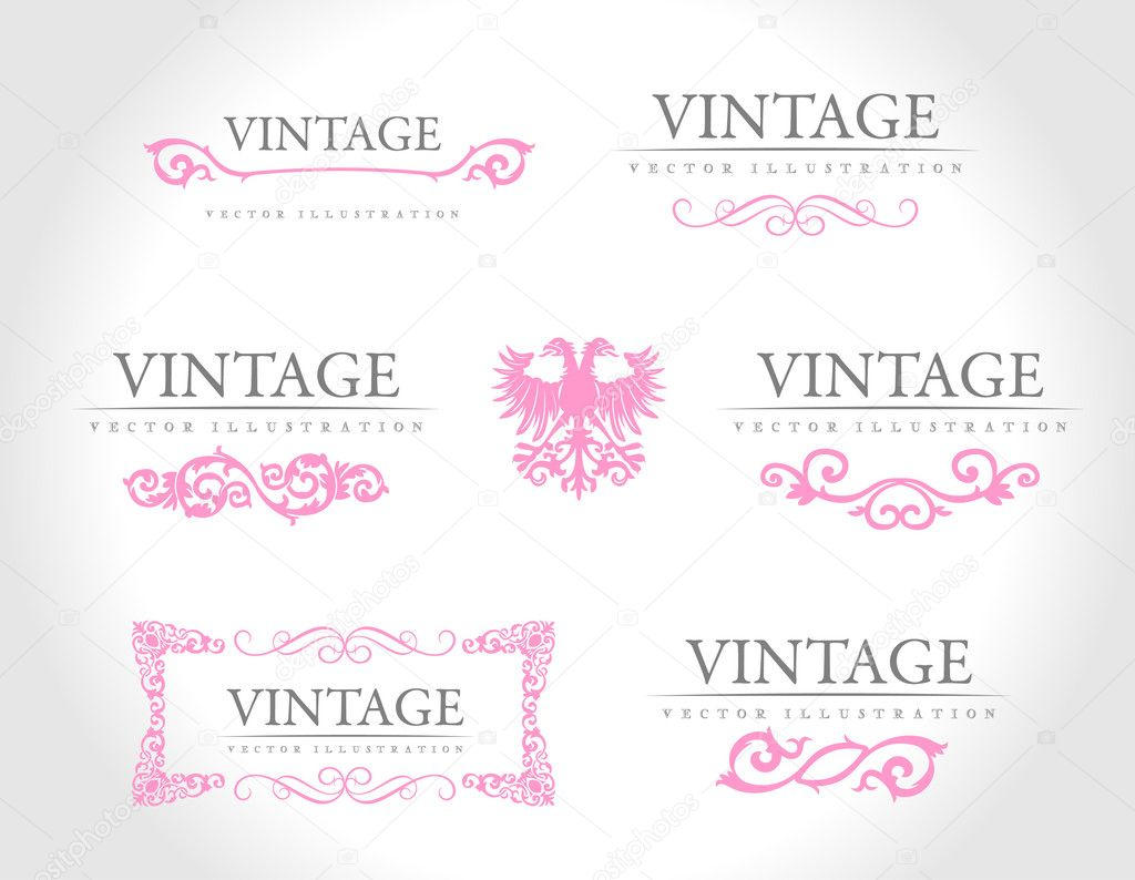 Baroque vintage royal design elements. Vector illustration — Stock Vector #4911442
