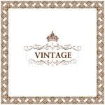 Vector vintage decor frame ornament floral — Stock Vector