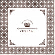 Vector vintage decor frame ornament retro - Stock Vector