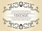 Vector vintage retro marco real adorno decoración texto — Vector de stock