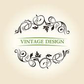Stylu vintage etykieta ornament projekt godło — Wektor stockowy