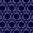 Seamless wallpaper background vintage blue black — Stock Vector