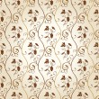 Royalty-Free Stock Векторное изображение: Seamless wallpaper background grapes decor vintage