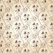 Seamless wallpaper background grapes decor vintage — Stock Vector