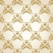 ストックベクタ: Seamless wallpaper background vintage gold