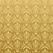 Seamless wallpaper background floral vintage gold — 图库矢量图片