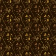 Seamless wallpaper background grapes decor vintage brown — 图库矢量图片