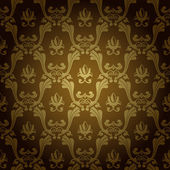 Seamless vintage wallpaper background stamping old gold — Stock Vector