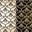 Seamless vintage backgrounds black brown baroque Pattern — Stock Vector