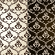 Seamless vintage backgrounds black brown baroque Pattern — Stock vektor