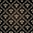 Seamless vintage wallpaper background floral black — Stok Vektör