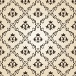 Seamless vintage wallpaper background floral beige — Imagen vectorial