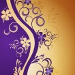 Vector de stock : Decorative floral background