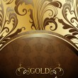 Vector de stock : Decorative golden background