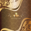 Stockvector : Decorative golden background