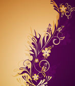 Fondo floral decorativo — Vector de stock