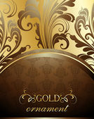 Decorative golden background — ストックベクタ