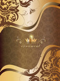 金色的装饰背景 — 图库矢量图片