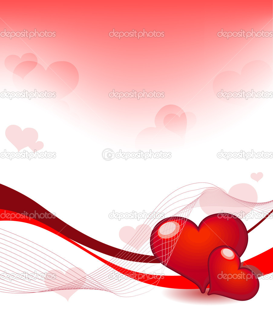 Vector illustration of Valentine's Day with hearts — Stock Vector #4801582
