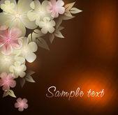 典雅花卉背景,eps10 格式 — 图库矢量图片
