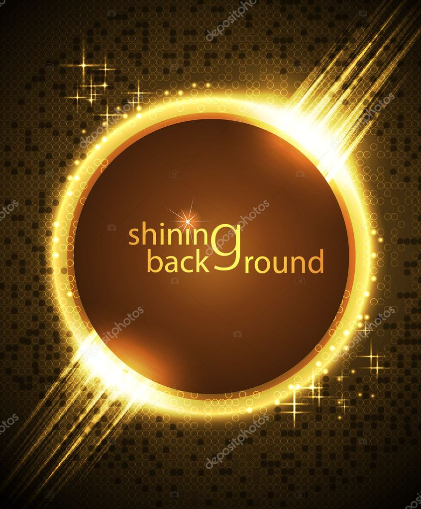 Brightly glowing background with circles  Stock Vector #5213444