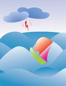 Ocean Storm — Stock Vector