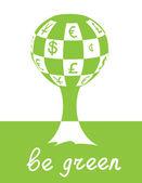 Green tree — Stockvector