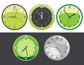 Clock set — Stock Vector