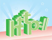 Http letters — Stock Vector