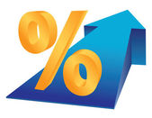 рост в процентах — Cтоковый вектор