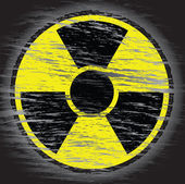Nuclear danger sign — Stock Photo